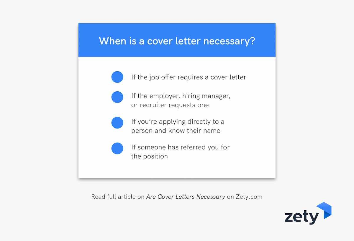 When is a cover letter necessary