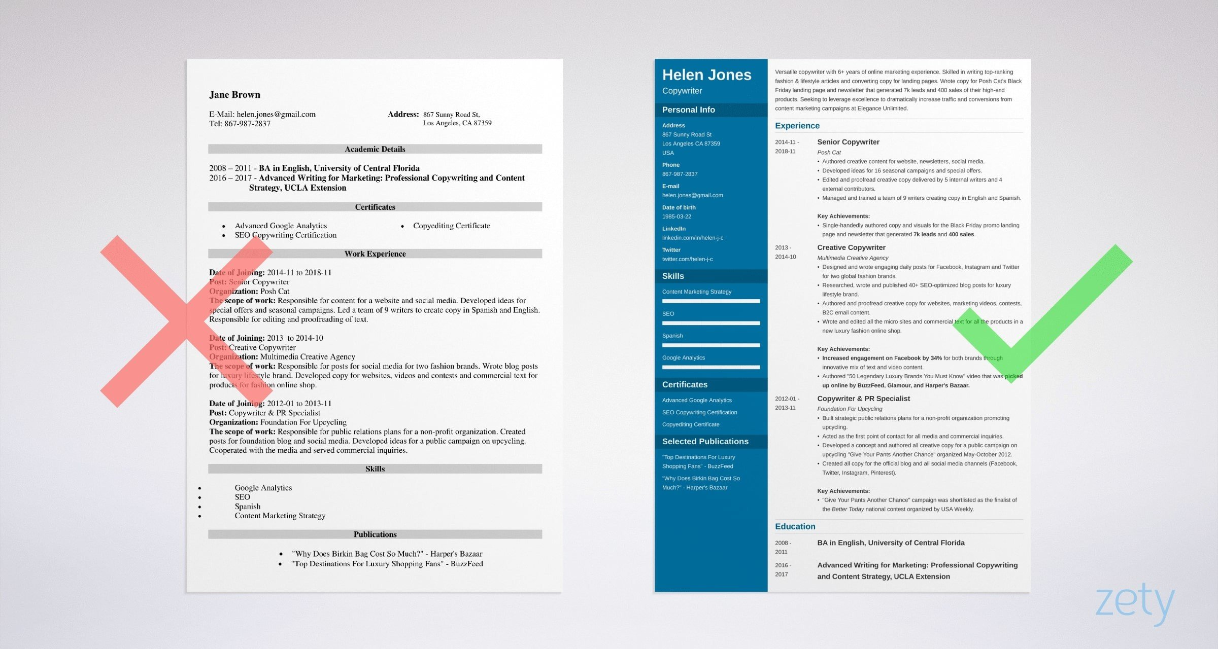 Writer Resume Sample & Guide (20+ Professional Examples)