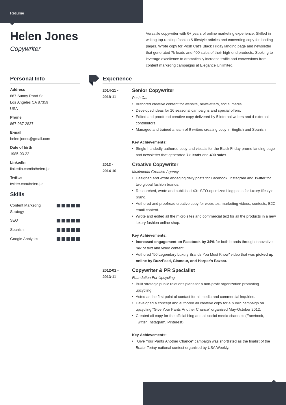 writer resume example template modern