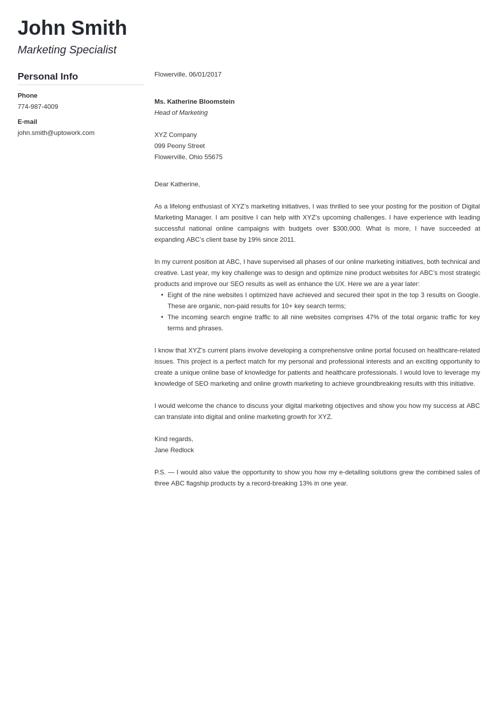 Professional Cover Letter Template Muse