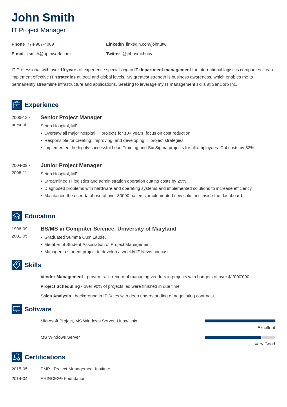Professional Resume Template Newcast