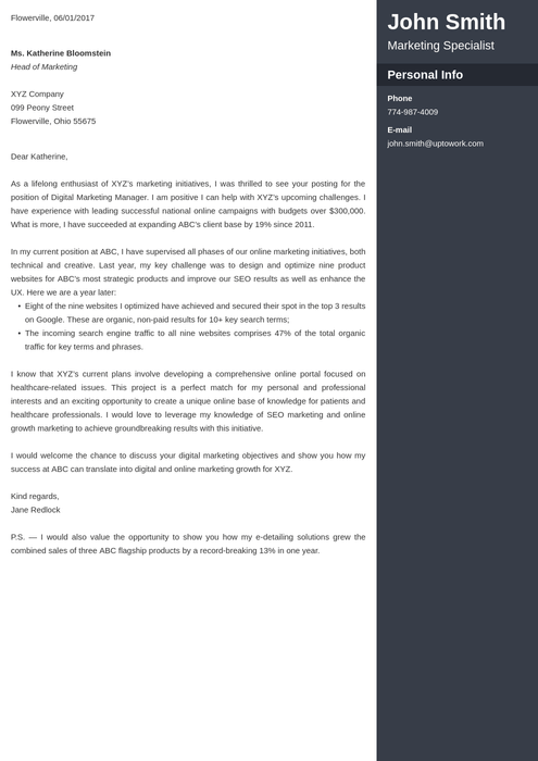 creative cover letter templates