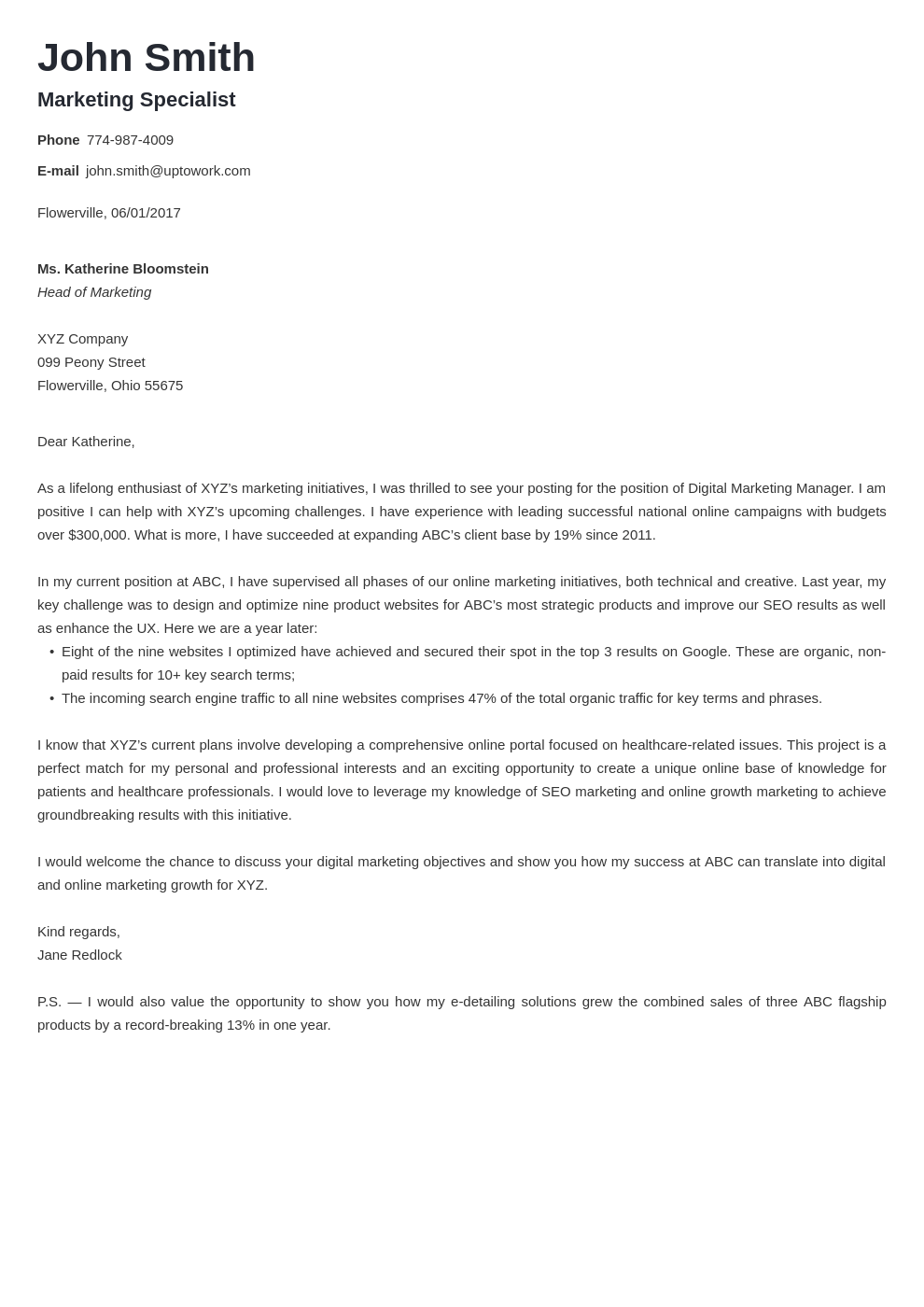 1 Valera Use This Template Professional Cover Letter Simple